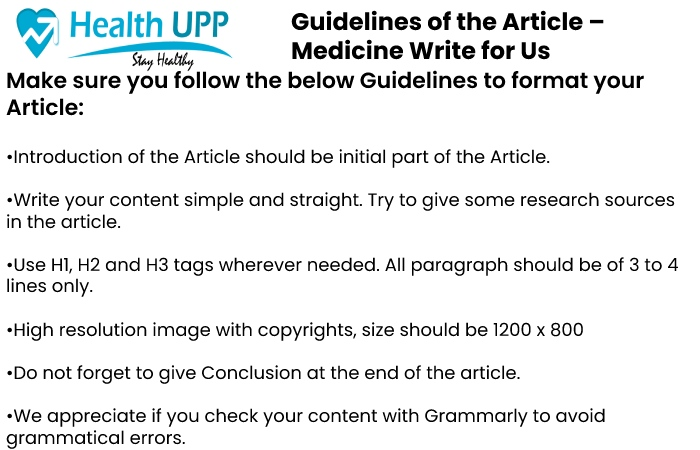 Guidelines for the article Healthupp