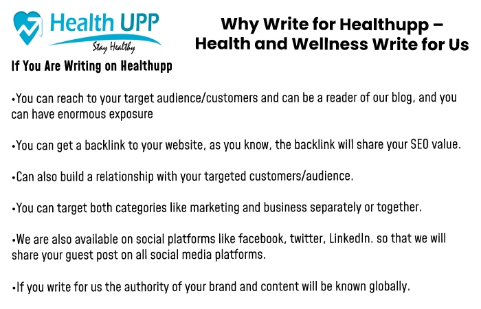 Why write for us Healthupp